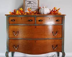 Tiger Oak Serpentine Dresser by Serpentine Dresser Etsy