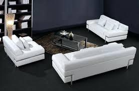 Poundex 3pc Sectional Sofa Set by Black White Modern 3 Piece Leather Sofa Set Okaycreations Net