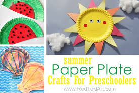 Paper Plate Summer Crafts For Preschool Delightful And Easy Arts Toddlers