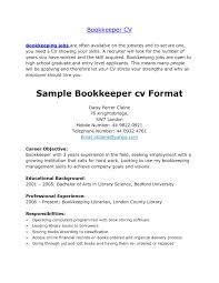 Entry Level Bookkeeper Resume Sample Free Examples Resumes Example Cv For Students Short Of Bookkeeping Skills