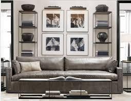 Restoration Hardware Lancaster Sofa Knock Off by Grey Leather Sofa U2026 Singer Residence Living Room And Master