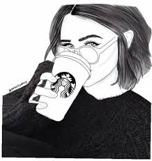 Starbucks Art Black And White Coffee Draw Drawing Drawings Drinking