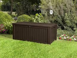 Keter Glenwood 390 Litre Deck Box by Keter Kissenbox Regenfest Rockwood Gartenkisenbox Braun 570l