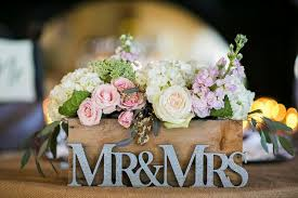 Deerpearlflowers Wp Content Uploads 2015 07 Flowers In Wooden Box Wedding Centerpiece With Mr And Mrs