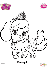 Click The Palace Pets Pumpkin Coloring Pages To View Printable Version Or Color It Online Compatible With IPad And Android Tablets