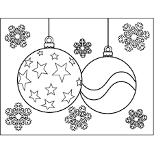 Christmas Ornaments With Stars Coloring Page