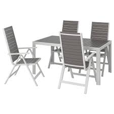 Table+4 Reclining Chairs, Outdoor SJÄLLAND Dark Grey, Light Grey Stunning White Metal Garden Table And Chairs Fniture Daisy Coffee Set Of 3 Isotop Outdoor Top Cement Comfort Design The 275 Round Alinum Set4 Black Rattan Foldable Leisure Chair Waterproof Cover Rectangular Shelter Cast Iron Table Chair 3d Model 26 Fbx 3ds Max Old Vintage Bistro Table2 Chairs W Armrests Outdoor Sjlland Dark Grey Frsnduvholmen China Patio Ding Dinner With Folding Camping Alinium Alloy Pnic Best Ideas Bathroom