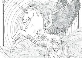 Flying Unicorn Coloring Pages Printable X Free Adult Un