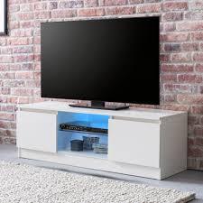 finebuy lowboard mit led fb51489 weiß hochglanz hifi regal 120 cm design fernsehschrank kommode modern tv unterschrank wohnzimmer tv board mit