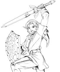 Twilight Princess Coloring Pages At GetDrawingscom Free For