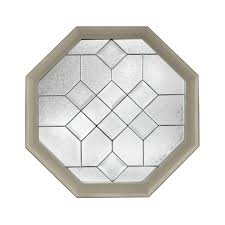 Home Depot Tile Spacers 332 by Hy Lite 25 In X 25 In Decorative Glass Fixed Vinyl Window Tan