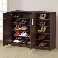 Baxton Simms Shoe Cabinet by Baxton Studio Adalwin 3 Door Entryway Shoes Storage Cabinet