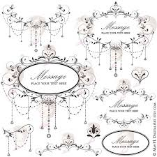 Wedding Digital Clipart Frame Elegant Chandelier Classic