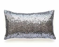 silver pillows etsy