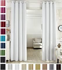 woltu 488 vorhang gardinen blickdicht mit ösen leichter weicher verdunklungsvorhang für wohnzimmer schlafzimmer haustür 135x225 cm weiß