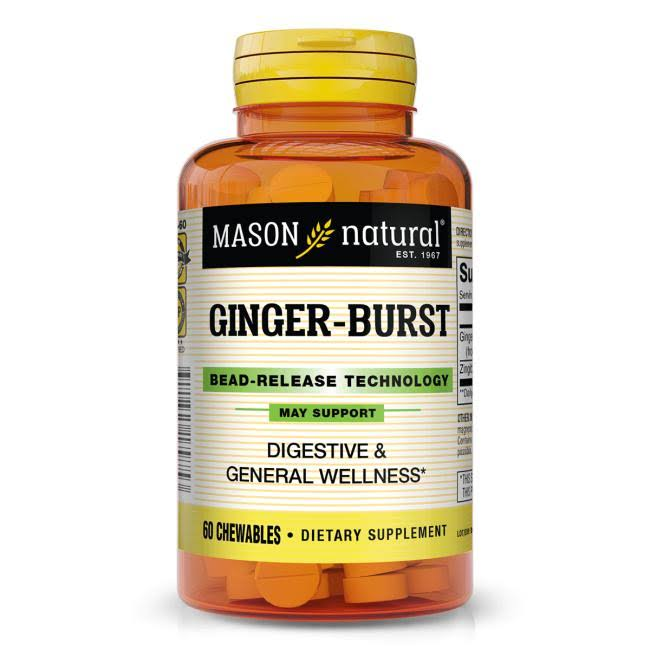 Mason Natural Ginger-Burst 60 Chewables