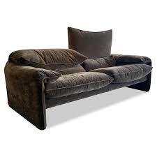 sofa maralunga xl stoff f alcantara braun grau mit verstellfunktionen