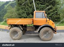 Small Truck Offroad Car Yellow Color Stock Photo (Edit Now ...