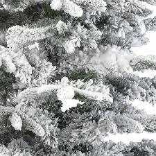 Black Fibre Optic Christmas Tree 7ft by Kaemingk Everlands Snowy Alaskan Flocked Christmas Tree 7ft