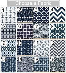 Navy Geometric Pattern Curtains by The Designer Touch