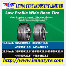 100 Wide Truck Tires Radial Low Profile Base Tire 44545r195 For Rim 1500