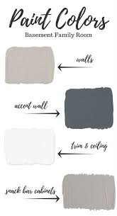 Best Colors For Living Room Accent Wall by Best 25 Basement Paint Colors Ideas On Pinterest Basement