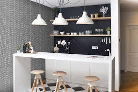 tapisserie pour cuisine papier peint chambre cuisine des modèles tendance pour chaque