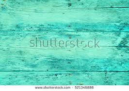 Wood Plank Fence In Bright Turquoise Color Close Up Detailed Background Photo Texture Wooden