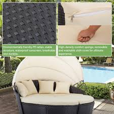 100 Retractable Patio Chairs Amazoncom FDW Outdoor Sofa Furniture Round
