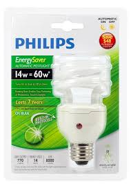 philips compact fluorescent bulbs with built in photocell