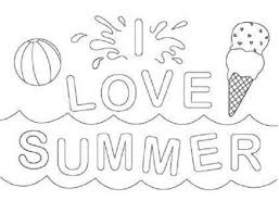 Summer Coloring Pages Print Color