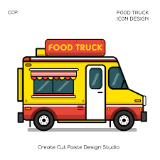 Food Truck Icon Design On Wacom Gallery
