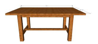 Farmhouse Dining Table Plans Full Size