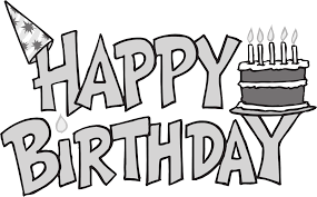 best 15 happy birthday clip art black and white pictures