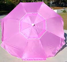 Pink Patio Umbrella Elegant Beach Products Outdoors Residence Decorative Concept
