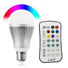 High Ceiling Light Bulb Changer Amazon by Texsens Rgbw 9w 800 Lumen Led Light Bulb Dimmable With 2 4ghz