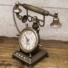Old Phone Clock Vintage K Lock Antique American Watch Fashion Objet