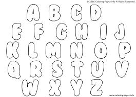 Bubble Letter Printouts Bubble Letters Coloring Pages Letter