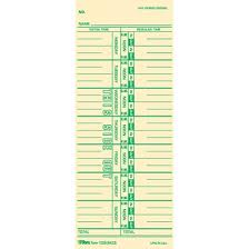 TOPS Named Days Time Cards 3 12 X 9 Sheet Size Manila Sheets Green Print Color 100 Pack By Office Depot OfficeMax