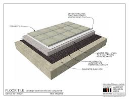 Tile Installer Jobs Nyc by 06 130 0201 Floor Tile Cement Mortar Bed On Concrete