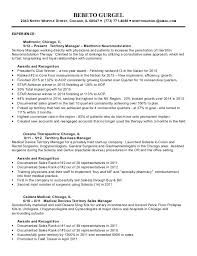 Territory Sales Manager Resume Sample Samples Medical Device
