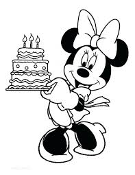 Minnie Mouse Coloring Pages Happy Birthday Online Baby 1st