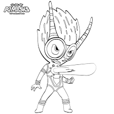 Pj Masks Gecko Coloring Pages New Owlette Gekko And Catboy From