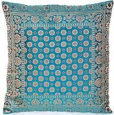 türkis turquoise indische seide deko kissenbezüge 40 cm x 40 cm extravaganten deko kissenbezüge für wohnzimmer und schlafzimmer dekoration