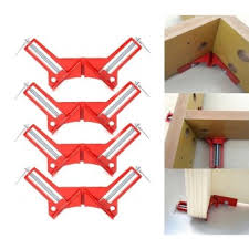 4 Pcs 90 Degree Right Angle Corner Clamp Miter Vise Vice Picture Frame Holder Clamps Woodworking