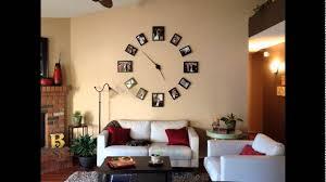 Creative Wall Clock Photo Display Design For Minimalist Living Room Decorating Ideas
