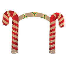 product works candy cane christmas archway yard art decoration
