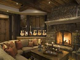 Rustic Living Room Decorating Ideas Great With Wall Stone Design