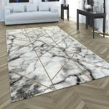 teppich schlafzimmer marmor look geometrisch modern