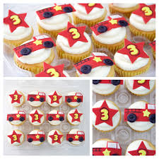 100 Fire Truck Cupcake Toppers 9 Engine S Photo Birthday
